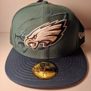 NEW Philadelphia Eagles 59Fifty Fitted Hat 7 1/4
